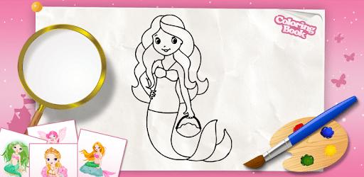 Princess colouring book for kids apk