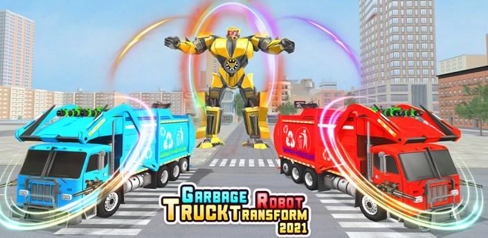 City Garbage Truck : Jet Robot Games apk