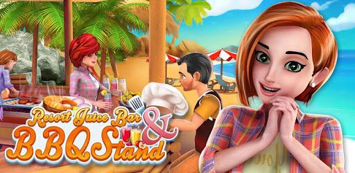Resort Juice Bar & BBQ Stand : Food Cooking Games apk