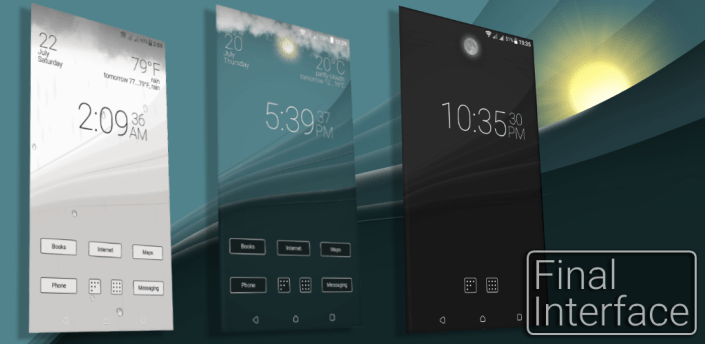 Final Interface - launcher + animated weather apk