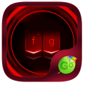 Neon Red GO Keyboard Theme Icon