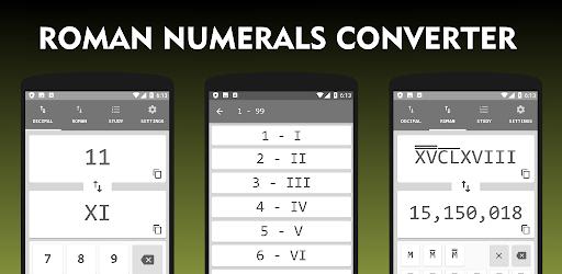 Roman Numerals Converter 1 to 1000000000 apk