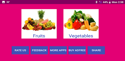 Learn Gujarati Fruits and Vegetables apk