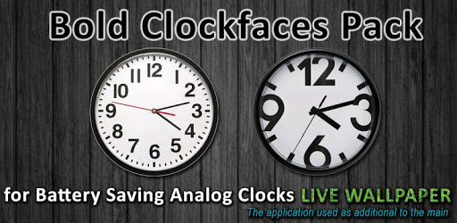 Bold Clockfaces for Battery Saving Analog Clocks apk