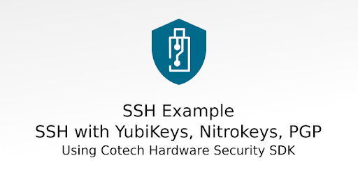 SSH Example: Auth with YubiKey, Nitrokey, PGP card apk