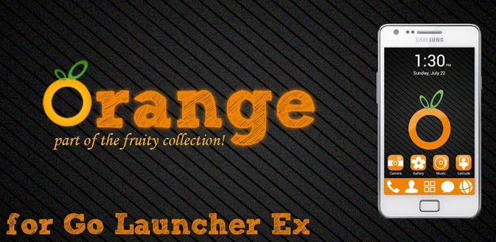 Orange GO Launcher EX Theme apk