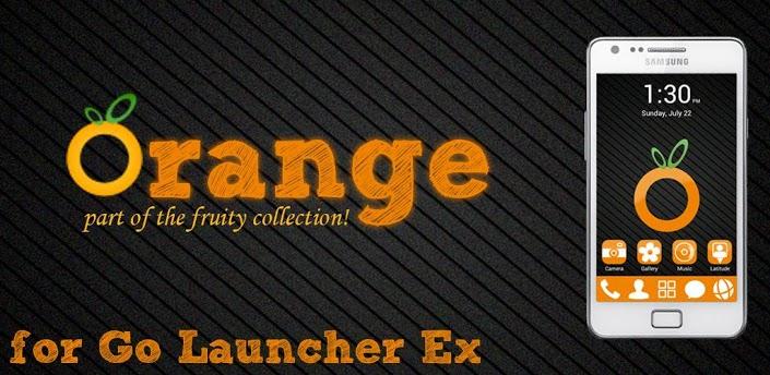 Orange GO Launcher EX Theme apk
