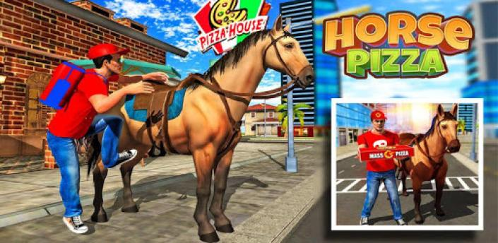 Mounted Horse Pizza Delivery 2018 apk