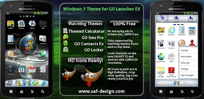 Windows 7 GO Launcher EX Theme apk