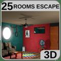 3D 25 Rooms Escape Icon