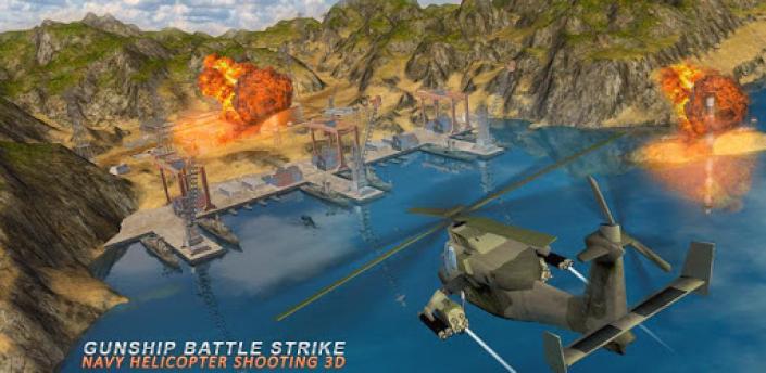 Gunship Battle Strike Navy Helicopter Shooting 3d apk