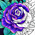 Coloring Book - Color by Number & Paint by Number Icon