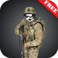 Modern soldier-US photomontage Icon