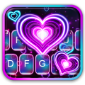 Neon 3d Heart Keyboard Theme Icon