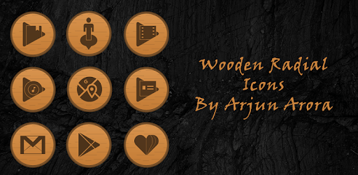 Wooden Radial Icons apk