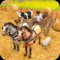 Horse Cart Farm Transport Icon