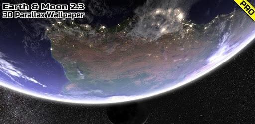 Earth & Moon in HD Gyro 3D PRO Parallax Wallpaper apk