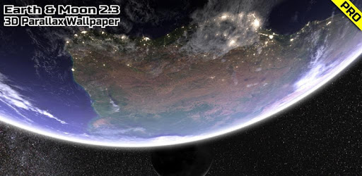 Earth & Moon in HD Gyro 3D PRO Parallax Wallpaper apk