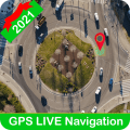 GPS Navigation Route Finder: Road Map Streetview Icon
