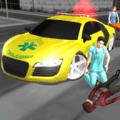 Crazy Driver Ambulance Duty 3D Icon