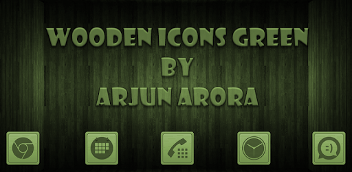 Wooden Icons Green apk
