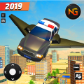 Flying Police Car Driving: Real Police Car Racing Icon