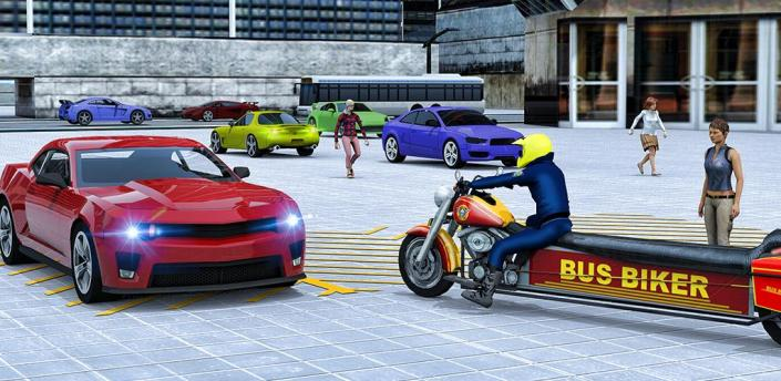 Bus Bike Driving: Cab Rider Transport Game apk