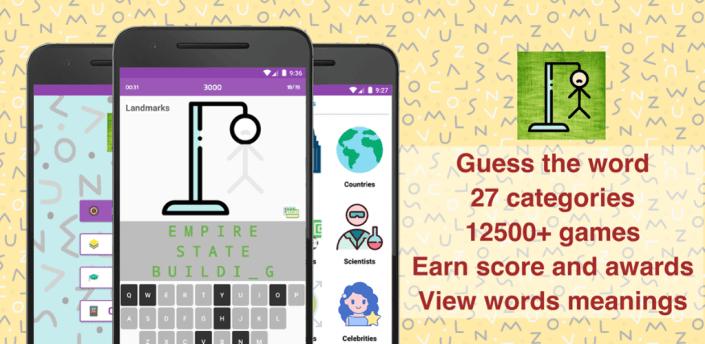 Hangman: Smart TVs, Tablets, Phones, 12000+ Games apk
