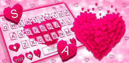 Pink Love Keyboard Theme apk
