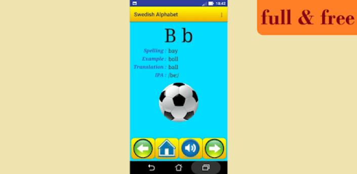 Swedish alphabet for students apk