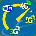 WiFi, 5G, 4G, 3G Speed Test - Cellular Speed Check Icon