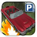3D Roadster Car Parking Icon