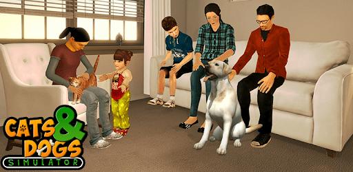 Virtual dog pet cat home adventure family pet game apk