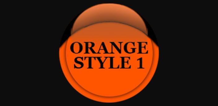 Orange Icon Pack Style 1 Free apk