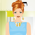Business Woman Dress Up Game Icon