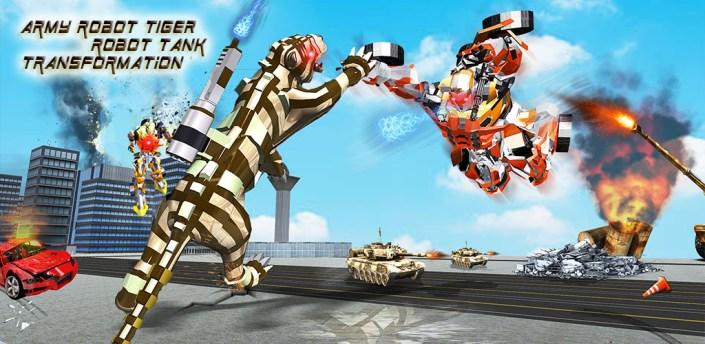 Furious Wild Tiger Robot Tank Robot Transform Game apk