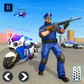 US Police Motor Bike Chase : Vegas Gangster Crime Icon