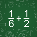 Adding Fractions Math Game Icon