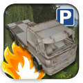3D Flatbed Car Parking Icon