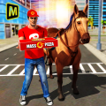 Mounted Horse Pizza Delivery 2018 Icon