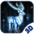 White Deer 3D Theme Icon