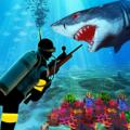 Scuba Shark Whale Hunter Icon