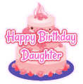 Birthday Wishes for Daughter, Greeting Card Quotes Icon