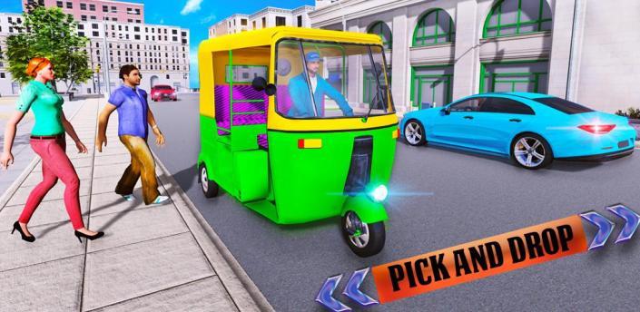 Tuk Tuk Rickshaw Driver 2019: City Transport Game apk