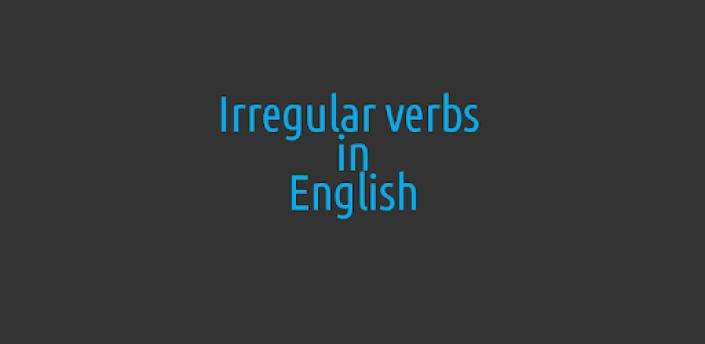 English irregular verbs apk
