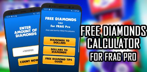 Free FRAG Gold & Diamonds Calc - for Pro Players apk