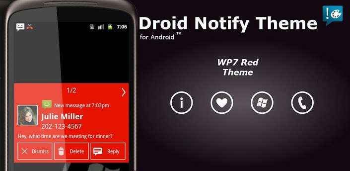Notify - WP7 Red Theme apk