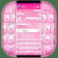 Beautiful Pink Heart Sms Keyboard Theme Icon
