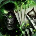 3D Poker Skull Theme Launcher Icon