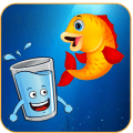 Save The Fish - Happy Water Glass Icon